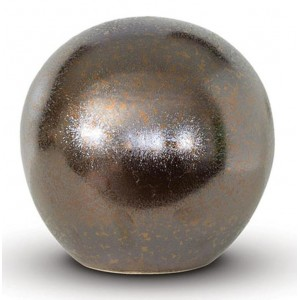 Small Rounded Ceramic Urn (Bronze)
